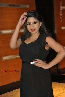 Telugu Actress Model Madhulagna Das Latest Spicy Stills in Black Short Dress  0002.JPG