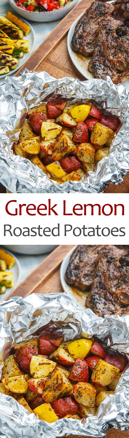 Greek Style Roast Leg Of Lamb With Lemon Roasted Potatoes Recipe ...