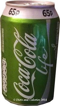 Coca Cola Life can with stevia