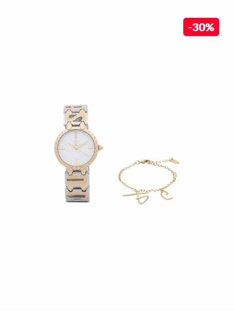 Set femei ceas si bratara Just Cavalli Logo JC1L056M0045SET reducere
