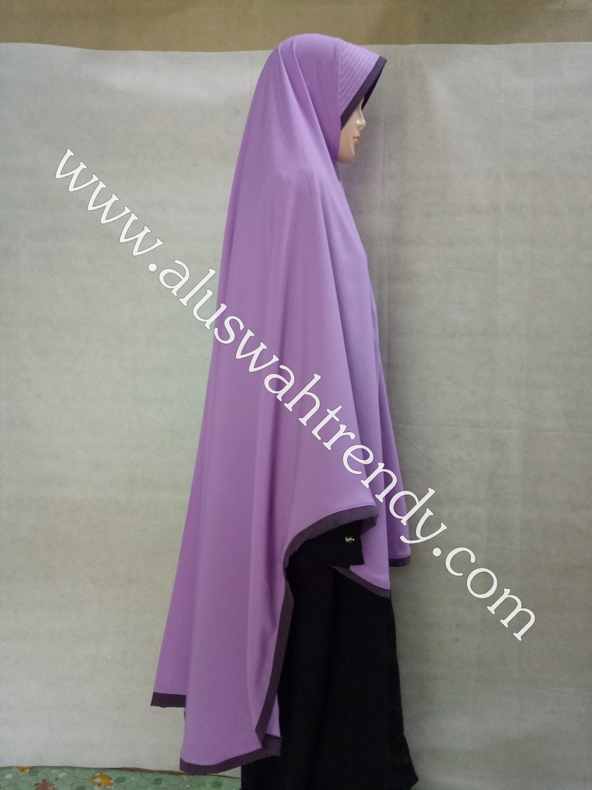Jilbab Khimar Instan Warna Ungu Muda 32