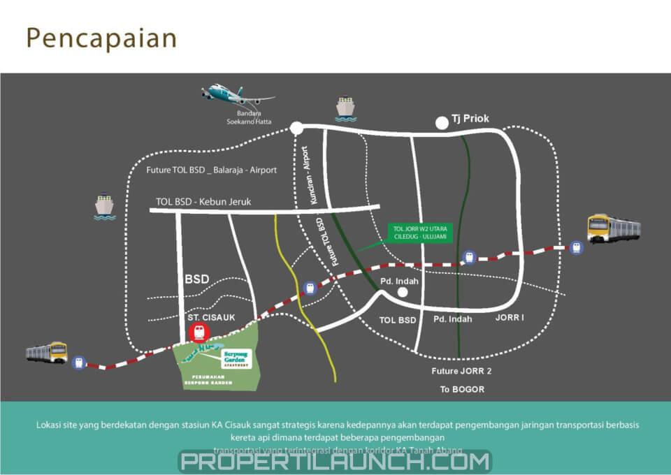 Peta Lokasi Apartemen Serpong Garden
