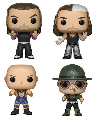 WWE Pop! Vinyl Figures Series 10 by Funko - The Hardy Boyz, Kurt Angle & Sgt Slaughter