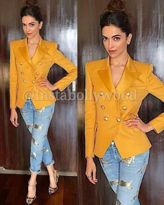 10 Jackets Donned By Deepika Padukone yellow