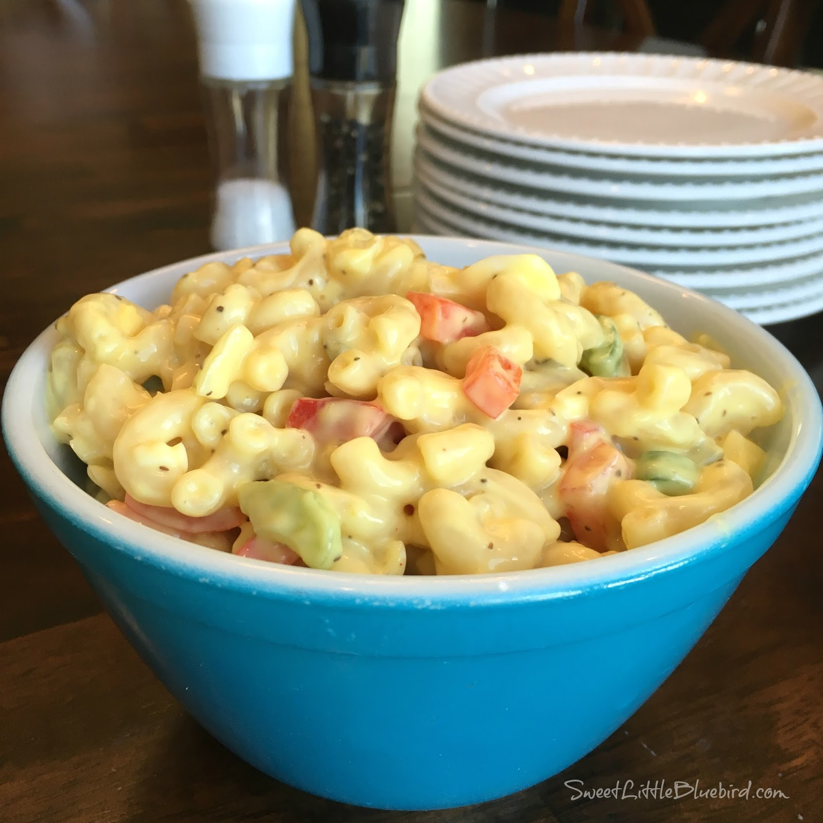 Best ever amish macaroni salad sweet little bluebird for Best summer pasta salad recipes ever