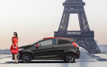 Wallpaper: Ford Fiesta Red Black