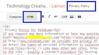 Menempatkan HTML Privacy Policy