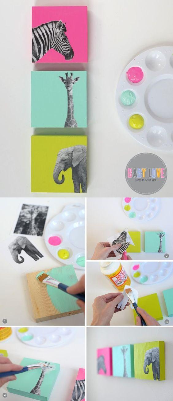 Ideas para decorar las habitaciones de tus hijos.  Fotos extraídas desde Pinterest. Mommo Desing