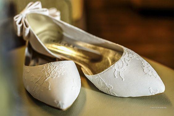 sapatilha de bico branca
