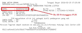 Cek No ID Pelanggan PLN lewat Struk