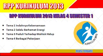 RPP Kurikulum 2013 SD Kelas 4 Semester 1 revisi tahun 2018