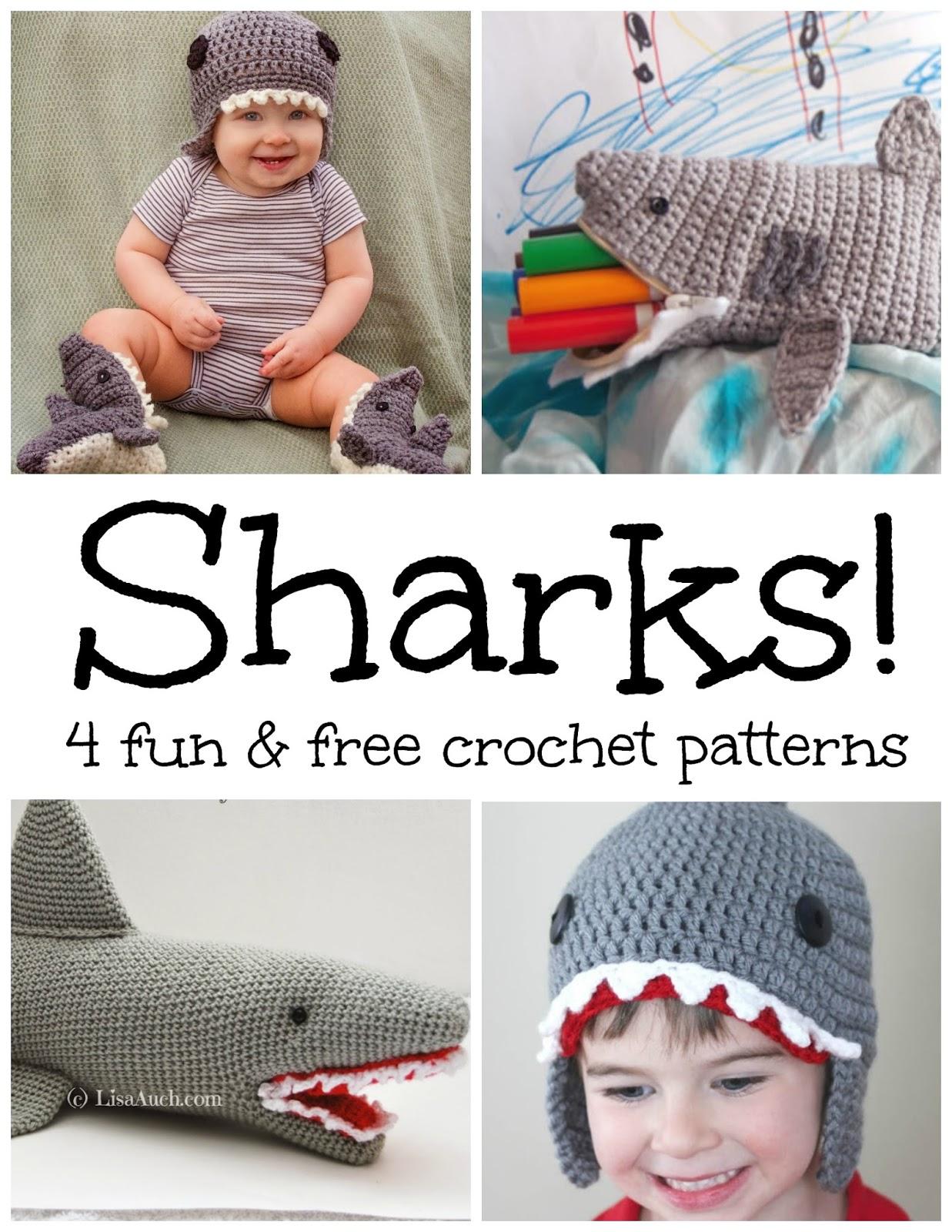 Fiber Flux: Sharks! 4 Fun and Free Crochet Patterns...