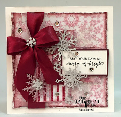 Our Daily Bread Designs Stamp Set: Merry & Bright, Our Daily Bread Designs Paper Collection: Snowflake Season, Our Daily Bread Designs Custom Dies: Snow Crystals