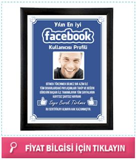 Fotoğraflı Facebook Sertifikası