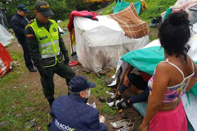 Encuentran 6 kilos de marihuana en campamento de refugiados venezolanos en Colombia