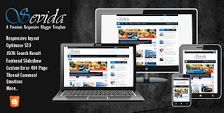 Download Template Sevida Premium Responsive Gratis (Free)