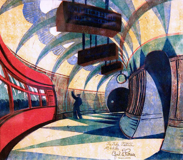 Cyril Power art the Tube 1930s