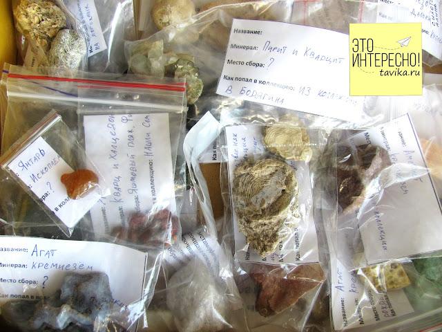 как хранить камни в коллекции горных пород