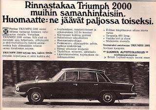 Triumph 2000 Mk2 advert