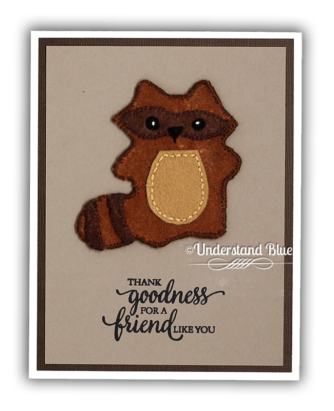 Felt Friends - Woodland Critters Falliday Fest Challenge Card