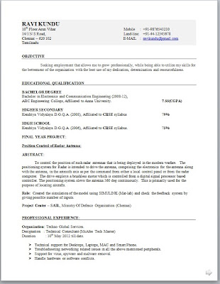 Best Resume Software Resume Software Resume Writing Software Electronic Engineer Resume Format