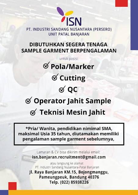 Loker PT. Industri Sandang Nusantara