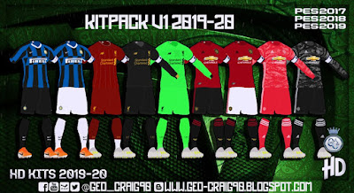 PES 2019 Kitpack Season 2019-20 HD By Geo_Craig90