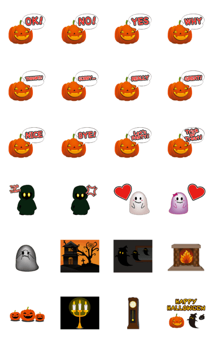 LINE Creators' Stickers - HALLOWIN HOUSE Anime Sticker@Halloween
