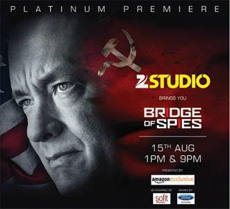 Zee Studio invites you to the Platinum Premiere of the year. Within less than a year of its theatrical release over the globe, the channel airs OSCAR® nominated real life thriller 'Bridge of Spies'