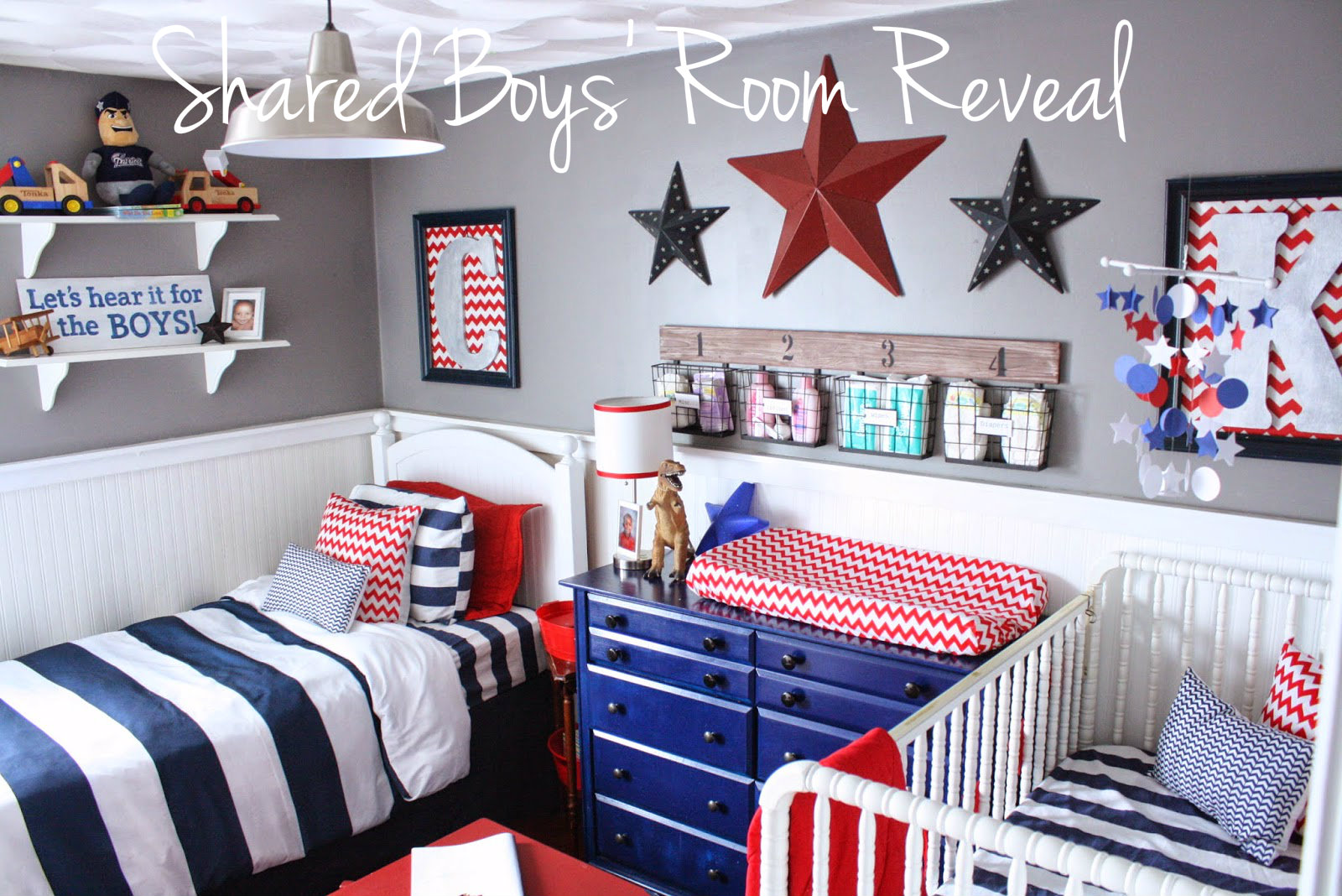 Creating A Comfortable And Organized Shared Bedroom/nursery For My Boys,  Was Top Priority When Planning This Space. It Has Not Been Easy Keeping My  Almost 6 ...
