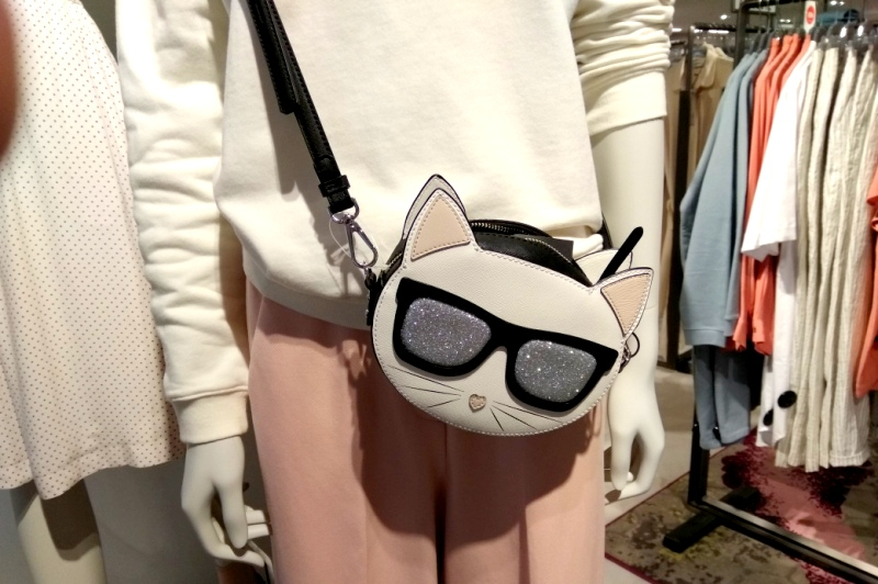 Karl Lagerfeld Ikonik Choupette Crossbody bag at Hudson's Bay department store Rotterdam