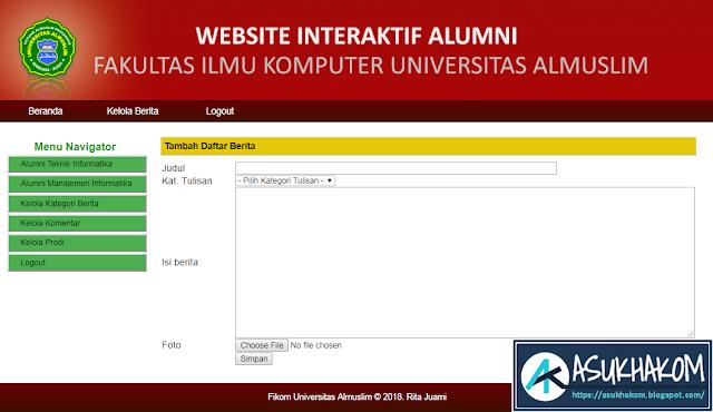 Source Code Aplikasi Interaktif Alumni Berbasis Web