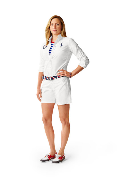 Swimmer Haley Anderson in Team USA's Polo Ralph Lauren Closing Ceremony uniforms. Photo: Ralph Lauren