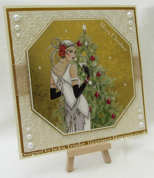 Tinyrose' Craft Room Art Deco Christmas Card