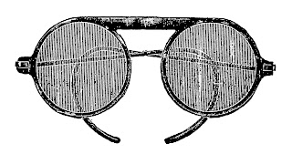eye glasses vintage illustration image digital clipart