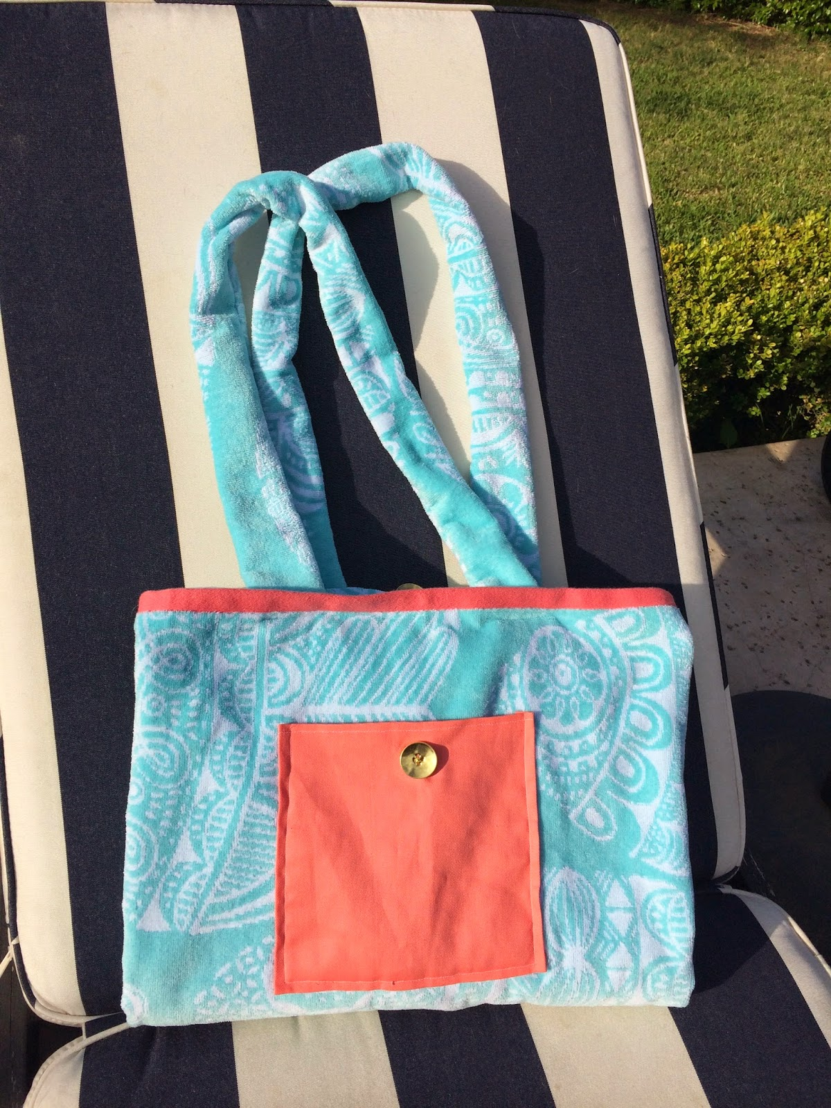 Sew Cute Crafts Beach Towel Tote