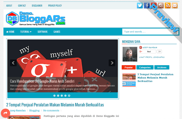 Preview Blog Demo BloggARs