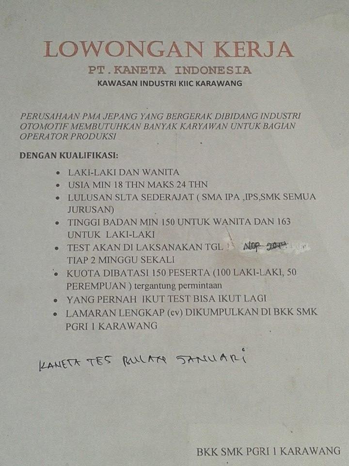 Lowongan Kerja Via Bkk Smk Pgri 1 Karawang Berita