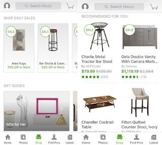 The Shop App page