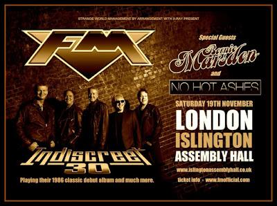 FM - Islington Assembly Hall - Indiscreet 30 - Bernie Marsden - show poster