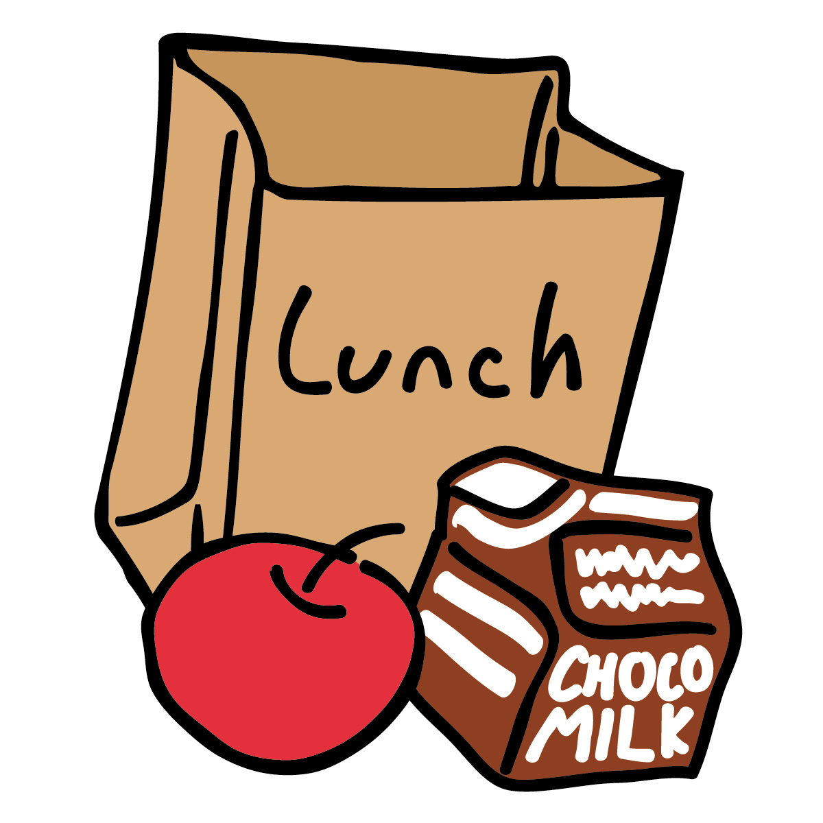 lunch clipart clip box eat lunches food start head solutions