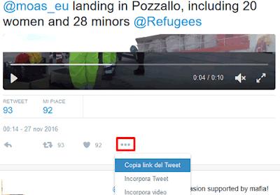 Come copiare l'indirizzo di un Tweet su Twitter