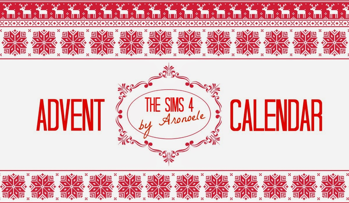 aronoele the sims 4 advent calendar the sims 4. Black Bedroom Furniture Sets. Home Design Ideas