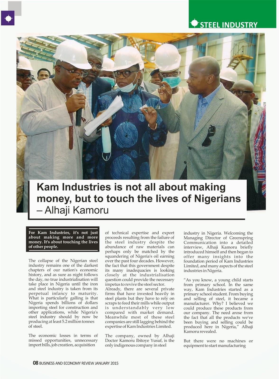 Kam Industries Nigeria:  www.checklistmag.com