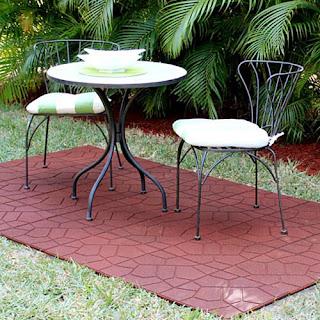 Greatmats Rubber Patio Paver Tiles