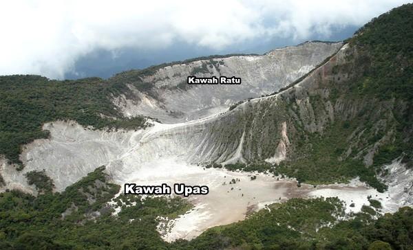kawah upas gunung tangkuban perahu