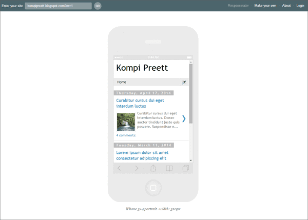 Mobile Template Blogger