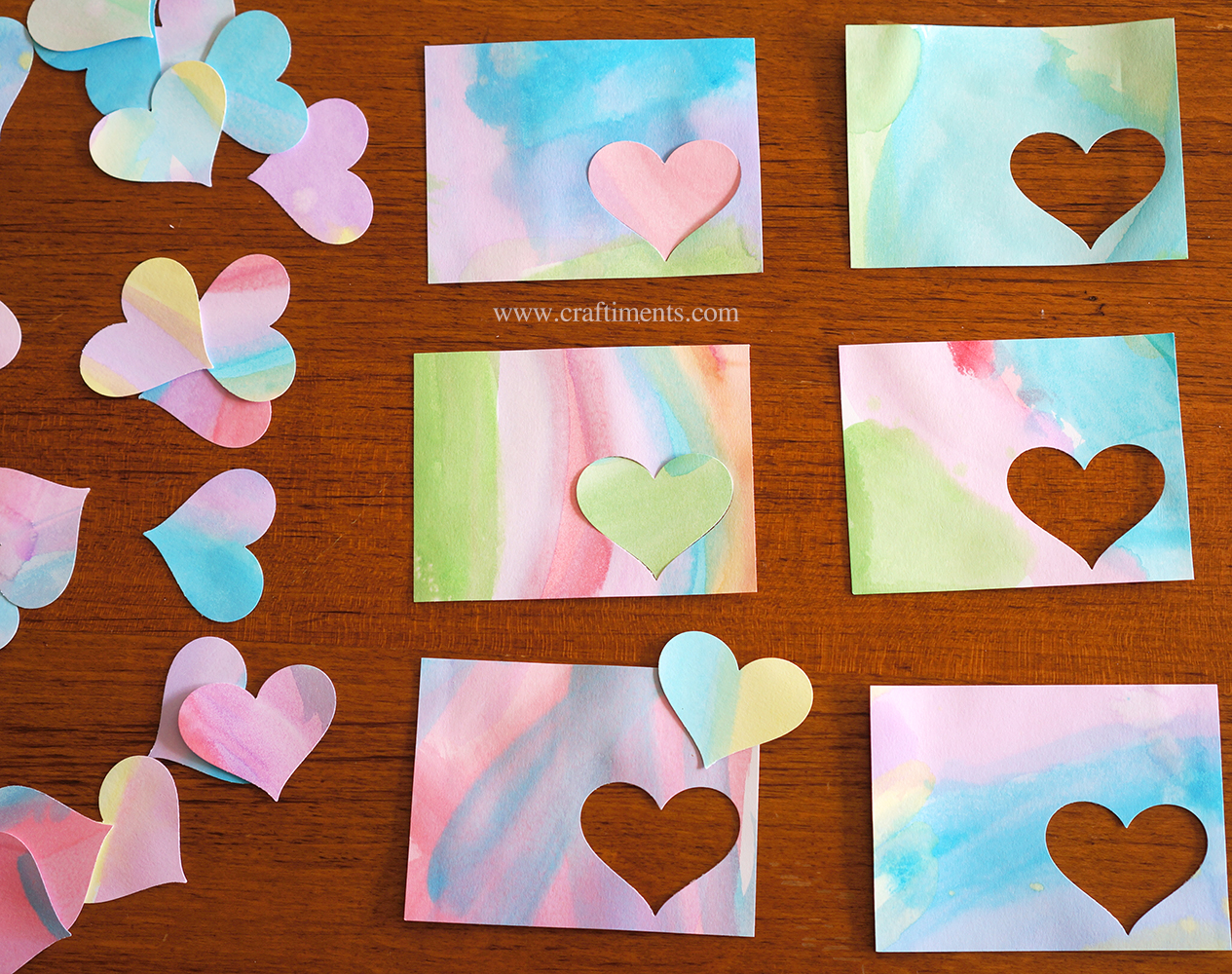 Mix and match hearts