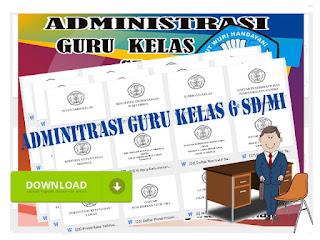 Berkas Adminitrasi Guru Kelas 6 SD/MI Format Words Lengkap