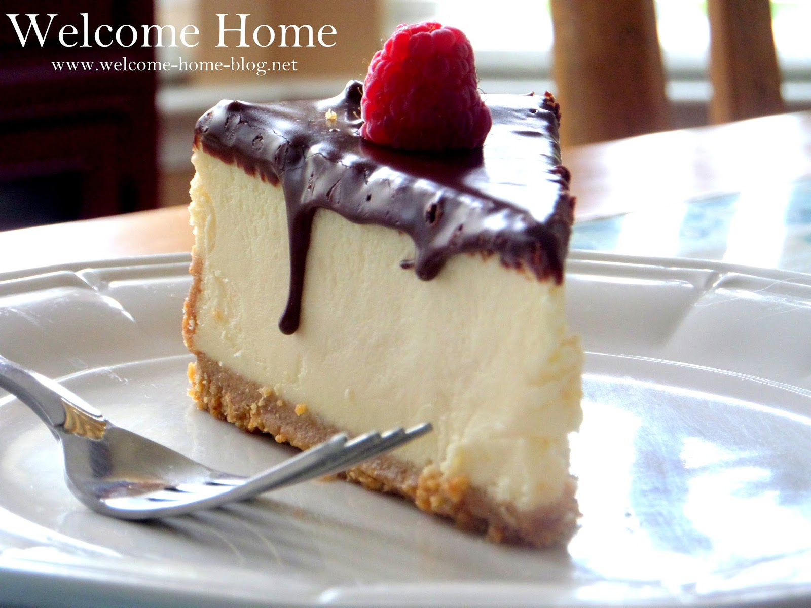 Welcome Home Blog White Chocolate Cheesecake With Ganache Topping